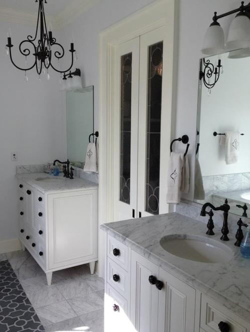 Master Bath Countertops - 3cm White Carrera